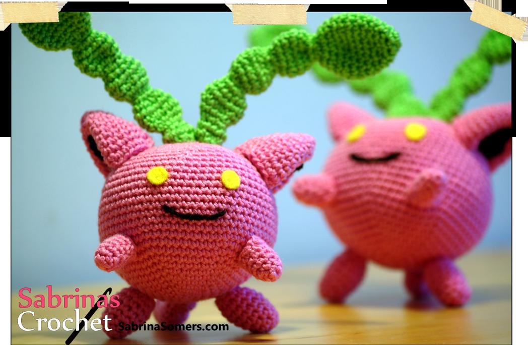 Hoppip Pokemon Free Amigurumi Crochet Pattern | Curiosidades tejidas ...