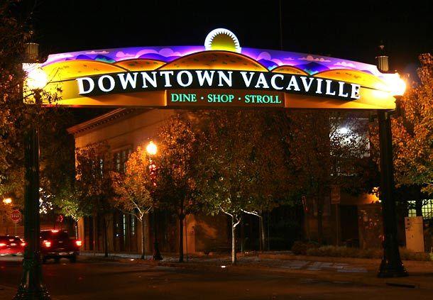 Beautiful Downtown Vacaville At Night Vacaville Concert Series