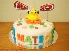 Tarta Pulcino Pio, Pulcino Pio cake fondant