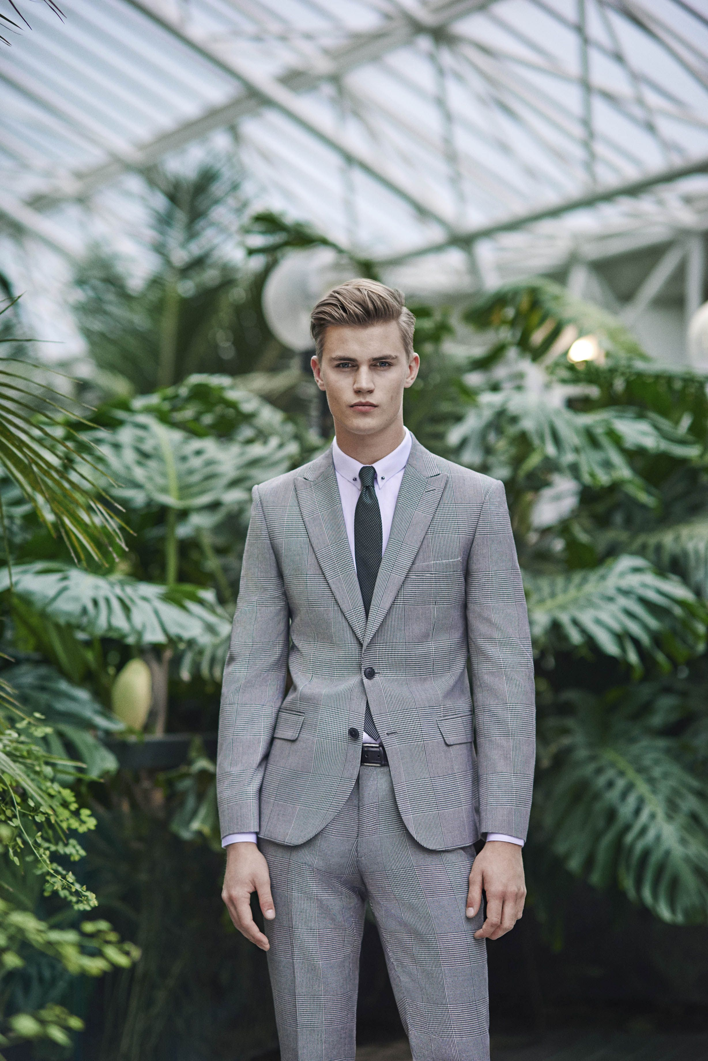 Moss London Skinny Fit Blue Check Jacket | Moss bros and Formal suits
