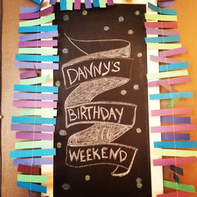 birthday #chalkboard #art.