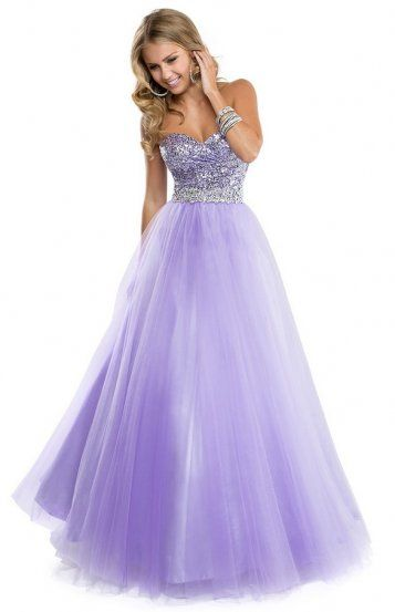 d59d7737 Lilac Long Sparkly Sequin Top Strapless Tulle Evening Dress | Royal ...