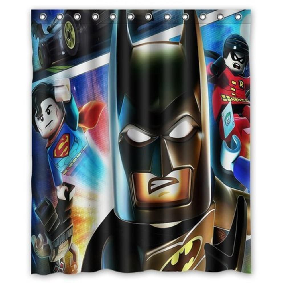 Lego Batman Fabric Shower Curtain Bat Cave Sales Fabric Shower