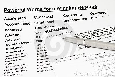 powerful words for a winning resume