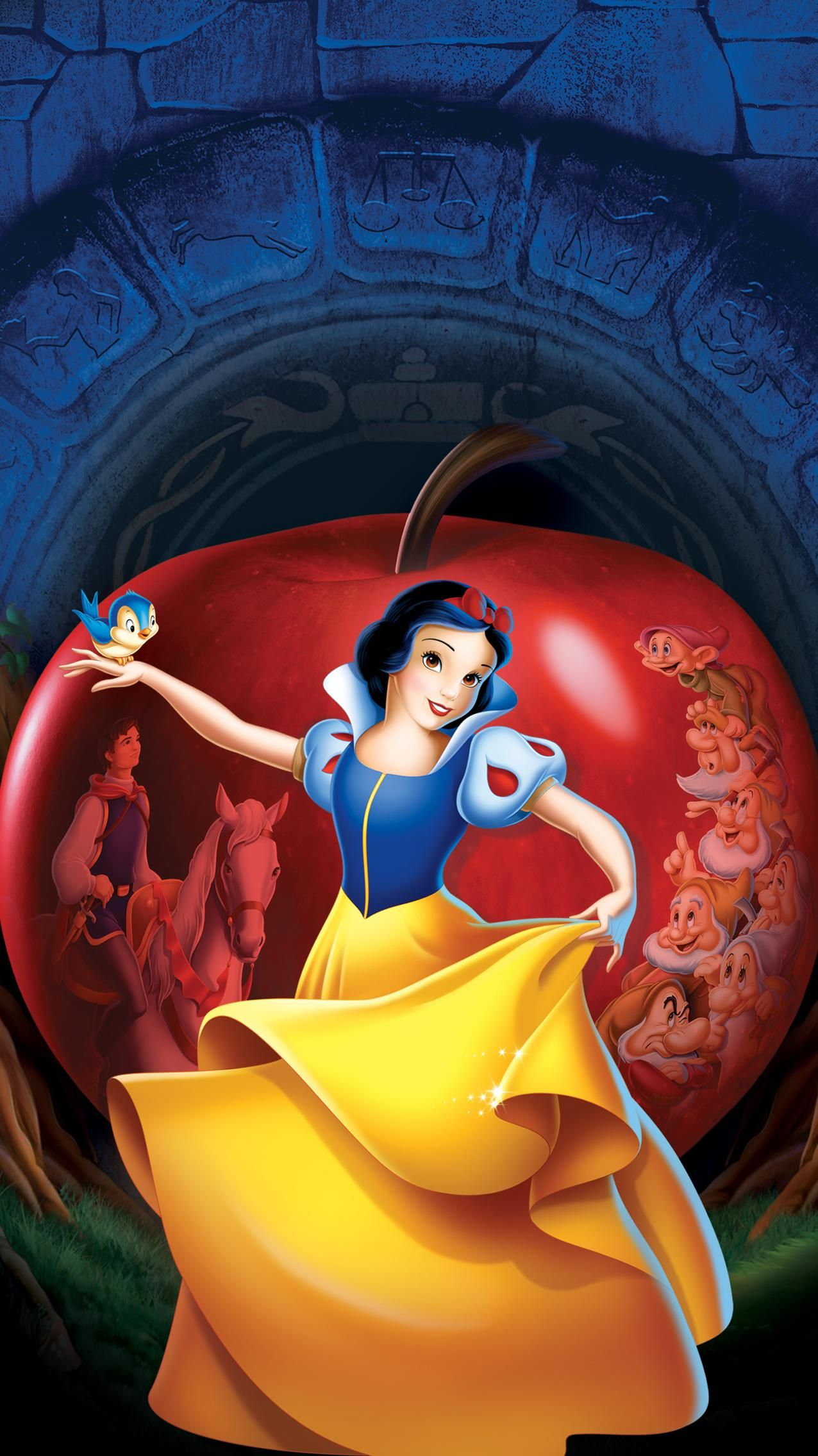 Snow White and the Seven Dwarfs (1937) Phone Wallpaper