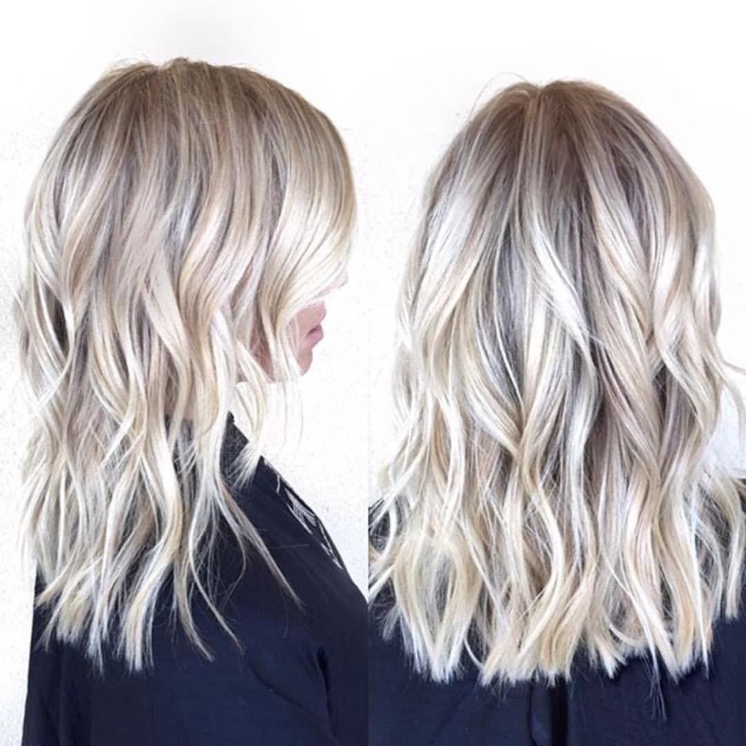 Mid Length Blonde Habitsalon Blonde Hair Balayage Hair