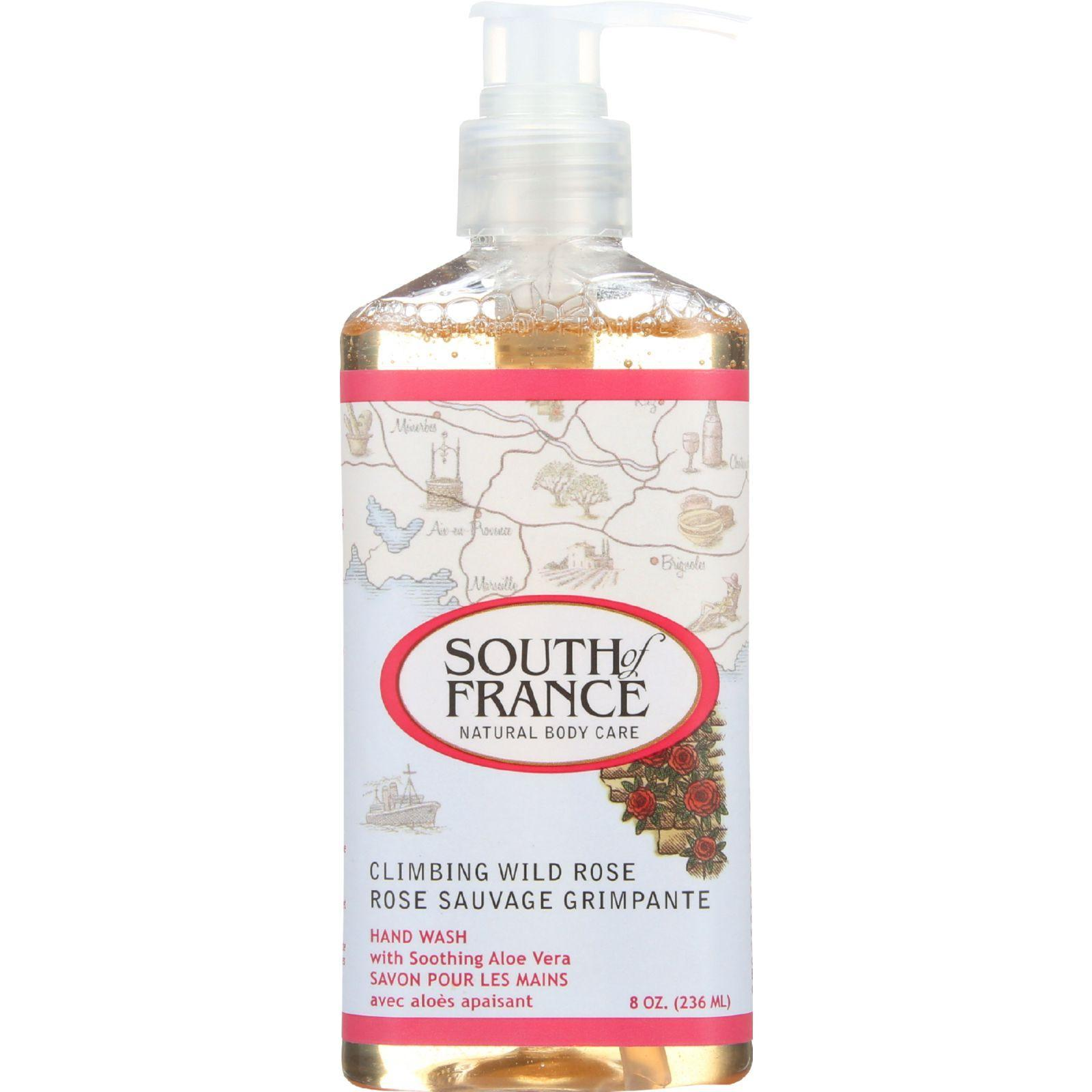 South Of France Hand Wash Climbing Wild Rose 8 Oz 1 Each