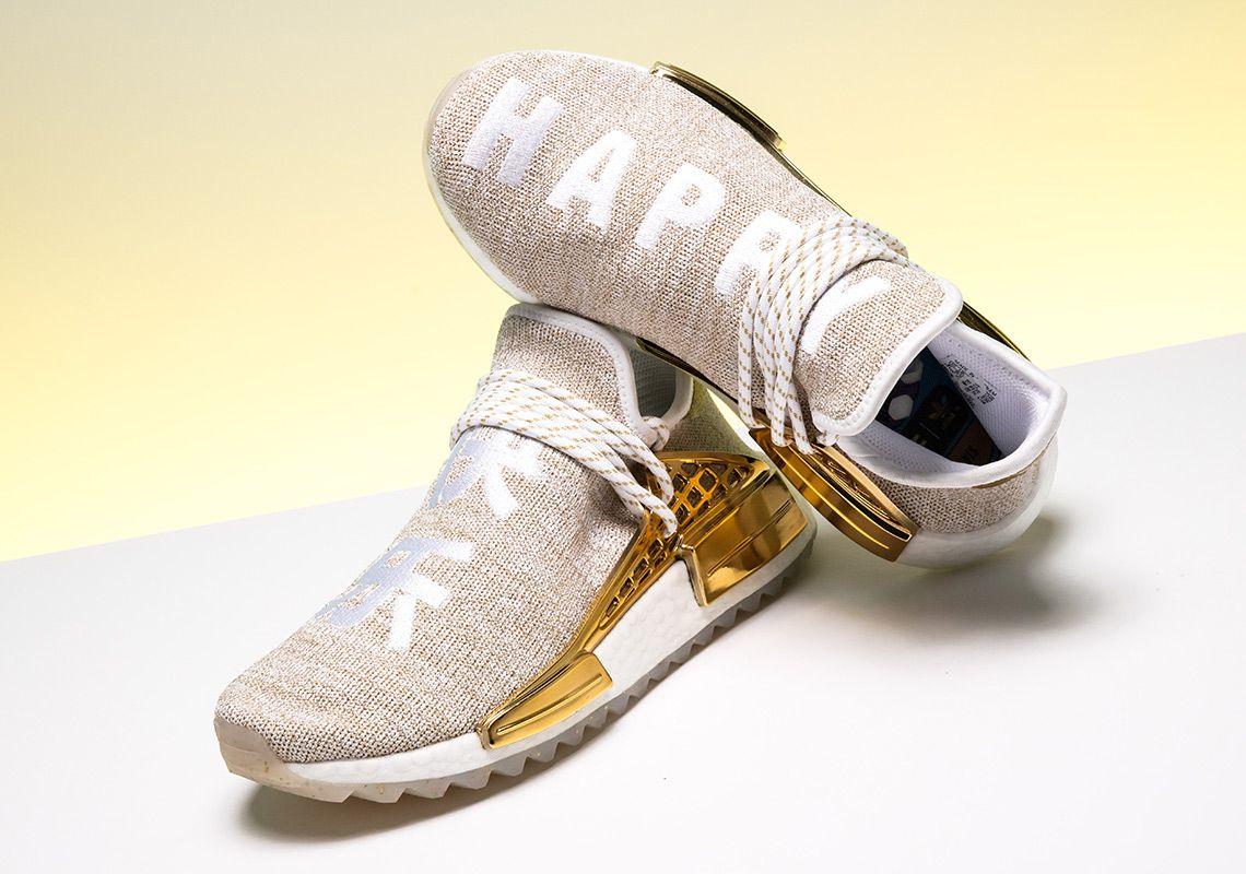 Pharrell adidas NMD Hu China Gold HAPPY