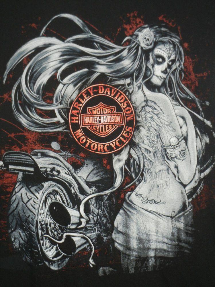 1fc5f28a Harley-Davidson Day of the Dead Pinup Girl medium tank top Greenville SC # HarleyDavidson #GraphicTee
