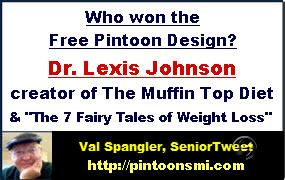 """#health& fitness Dr. Lexis Johnson is an action taker! Her quick response to the offer of a free Pintoon Design is why you will  soon be seeing her Pintoons appearing promoting her Muffin Top Diet and ebook, """"The 7 Fairy Tales of Weight Lost"""".  Lexis Johnson, PhD, NC www.WinAtLosingDiets.com www.ThePrettyWomanWebsite.com"""