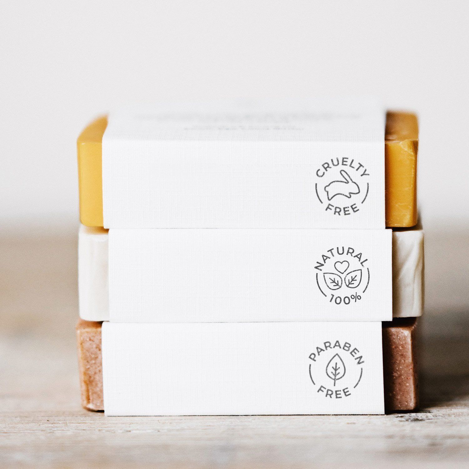 Natural beauty icon stamps, natural cosmetic icon stamp for organic brand packages, cruelty free stamp, organic beauty packaging icon stamp