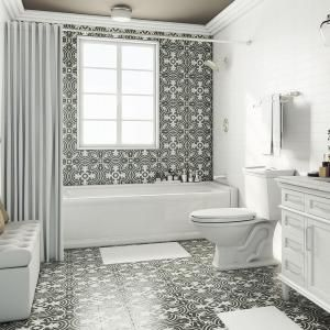 home depot bathroom flooring merola tile twenties classic 7 3 4 in x 7 3 4 in ceramic 18736