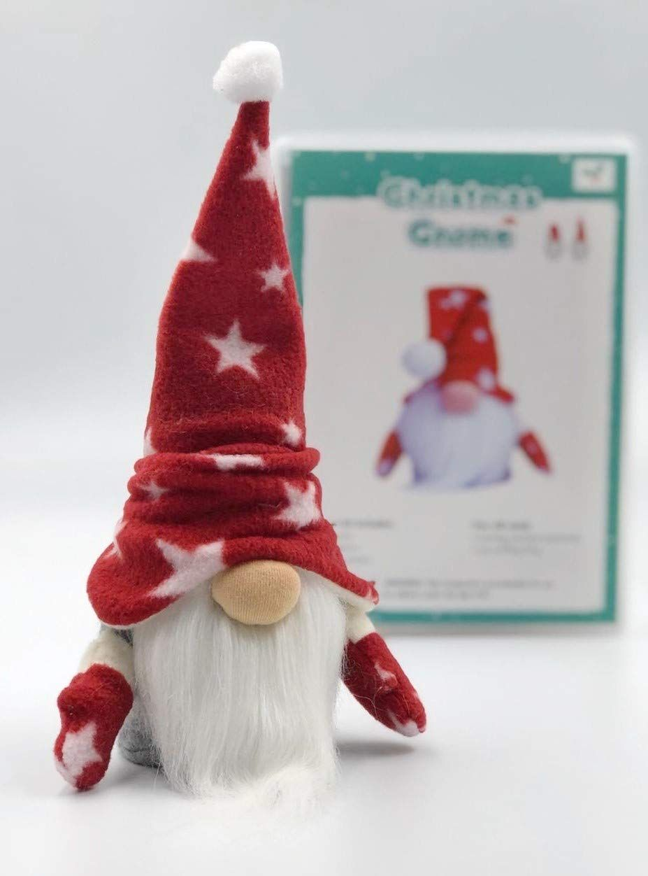 Amazon Com Christmas Gnome Pattern Diy Sewing Kit Xmas Red Handmade Christmas Gnome Gnome Patterns Crafts