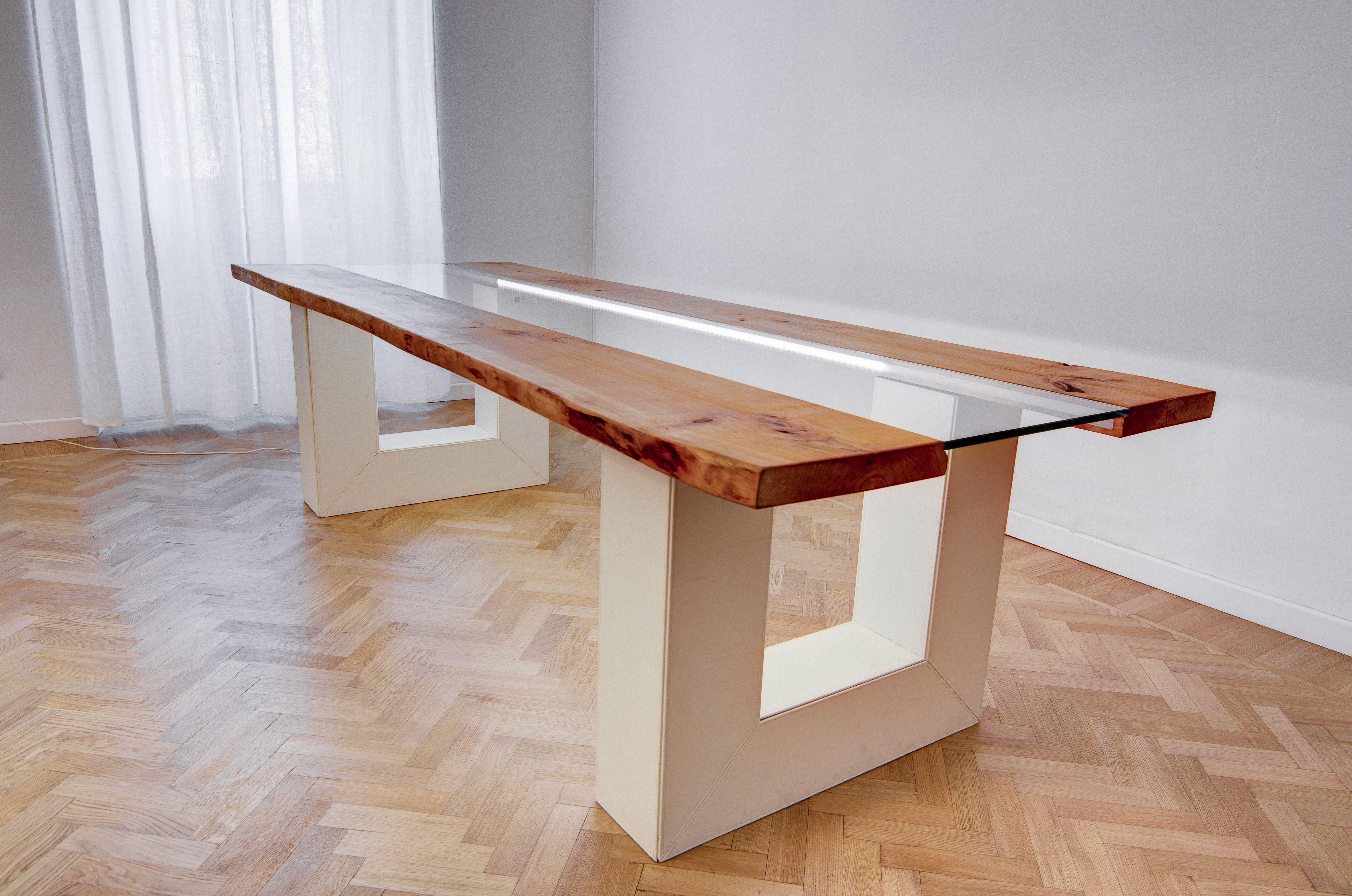 Tavolo Componibile ~ Tavolo componibile scelta dei materiali tavola grezza legno pelle