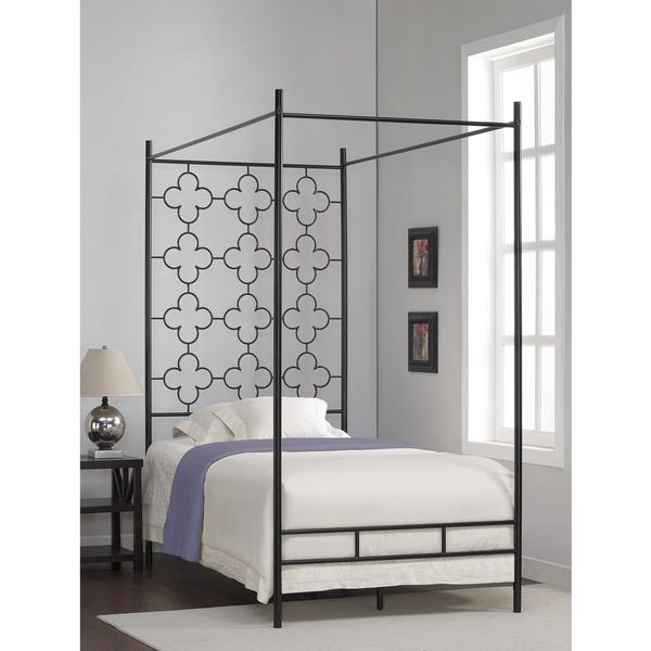 Quatrefoil Twin Canopy Bed Kids Spaces Pinterest Twin Canopy