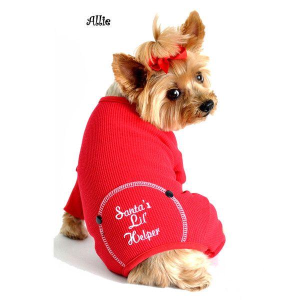 Santa's Lil' Helper Small Dog Christmas Pajamas - Candy Canes Christmas Doggy Dress Small Dog Clothes Pinterest
