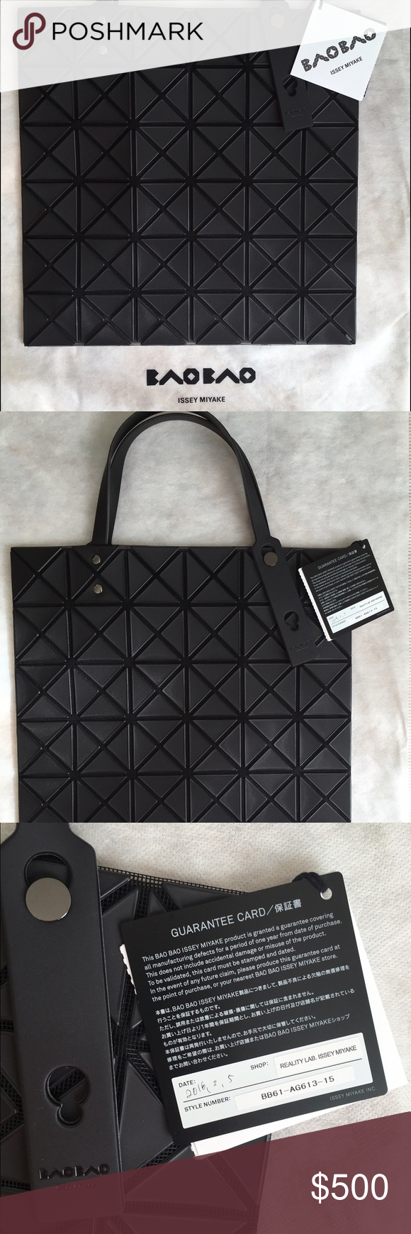 Bao bao Issey miyake Lucent 1 tote bag Bao bao bag, Lucent 1 tote bag,  matte black ORIGINAL!! Open to trade with a white or beije lucent! c145aefed6