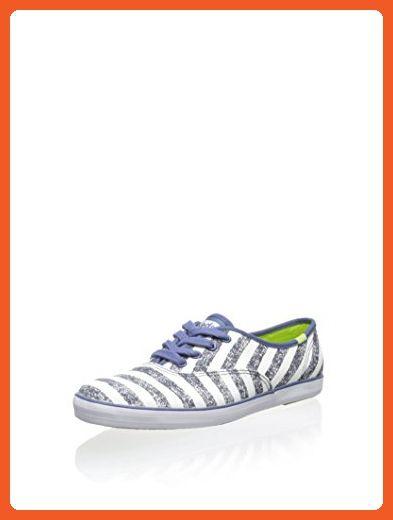 1de5c1d284ae4 Keds Women's Champion Washed Stripe, Navy, 6 M US - Athletic shoes ...