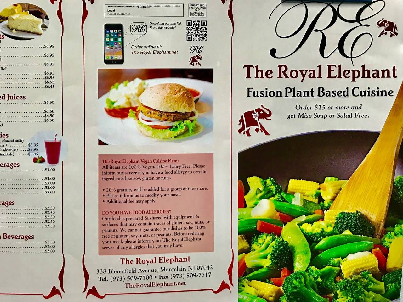 The Royal Elephant Montclair Nj Plant Based Cuisine We Are A 100 Vegan Restaurant Located In New Jersey
