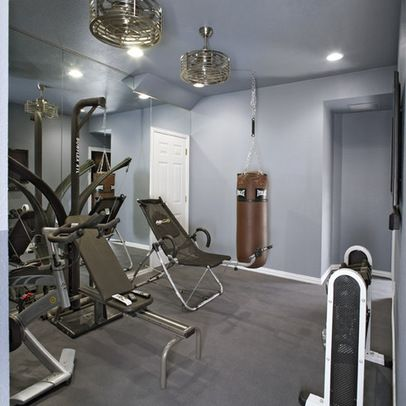 caged ceiling fan  home gym design home gym mirrors