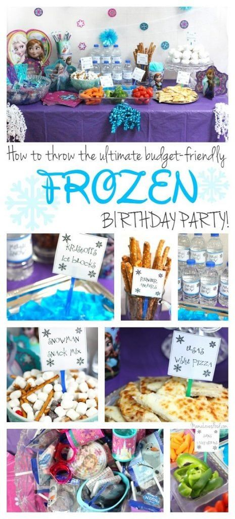 How to Throw the Ultimate Budget Friendly FROZEN Birthday Party! #frozenbirthdayparty