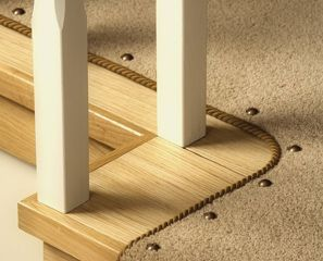 Best Stair Runner With Carpet Pins Corded Binding Along Edge 400 x 300
