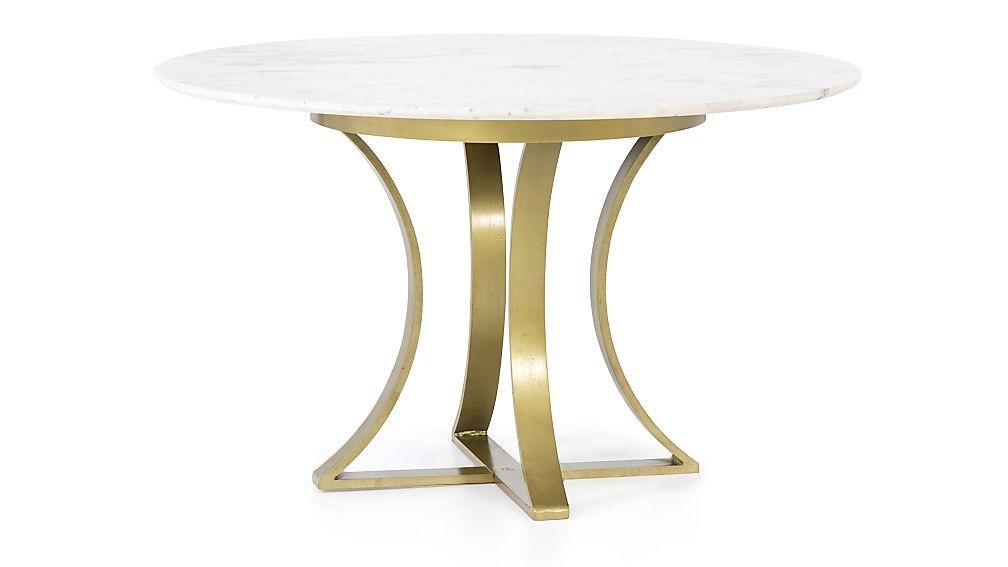 Damen 48 White Marble Top Dining Table Crate And Barrel