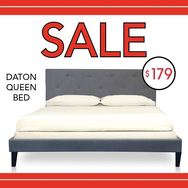 The Urban Home Daton Queen Bed is on sale for $179 from 8/29 - 9/1/14!