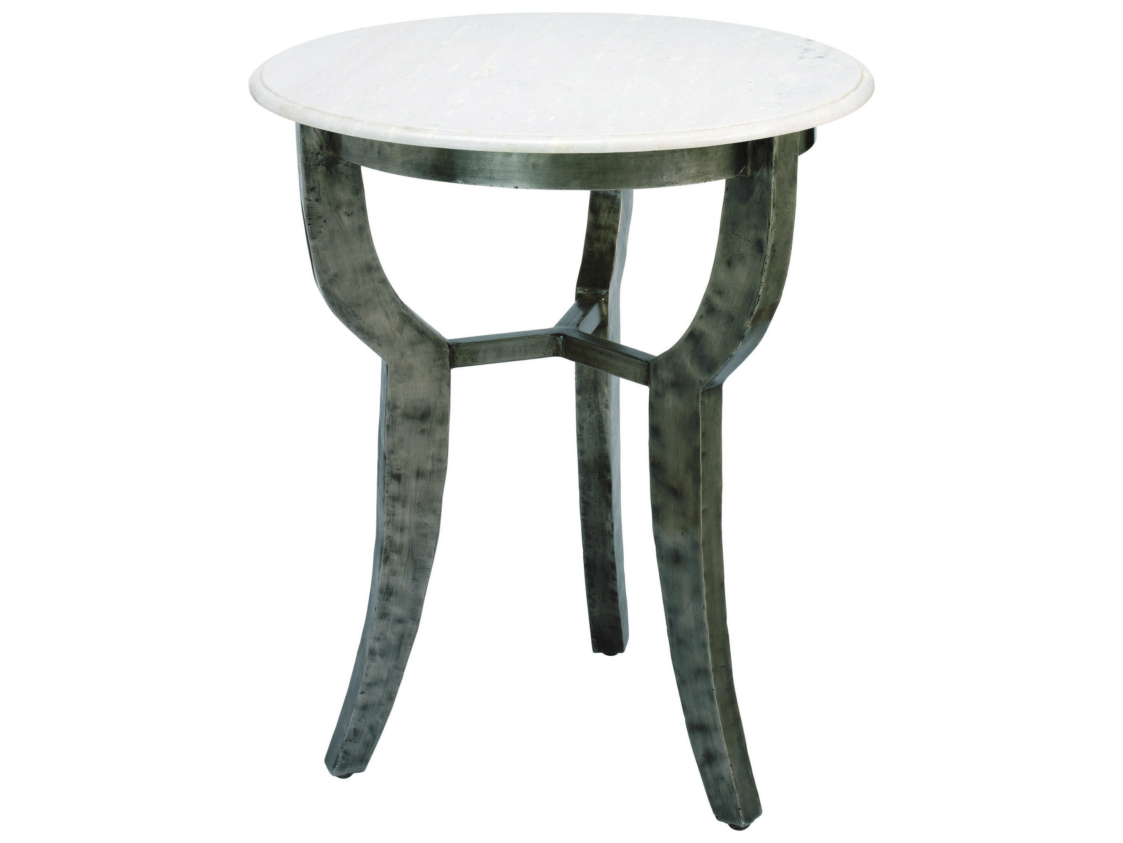 jamie young company villa 24 round white marble side table
