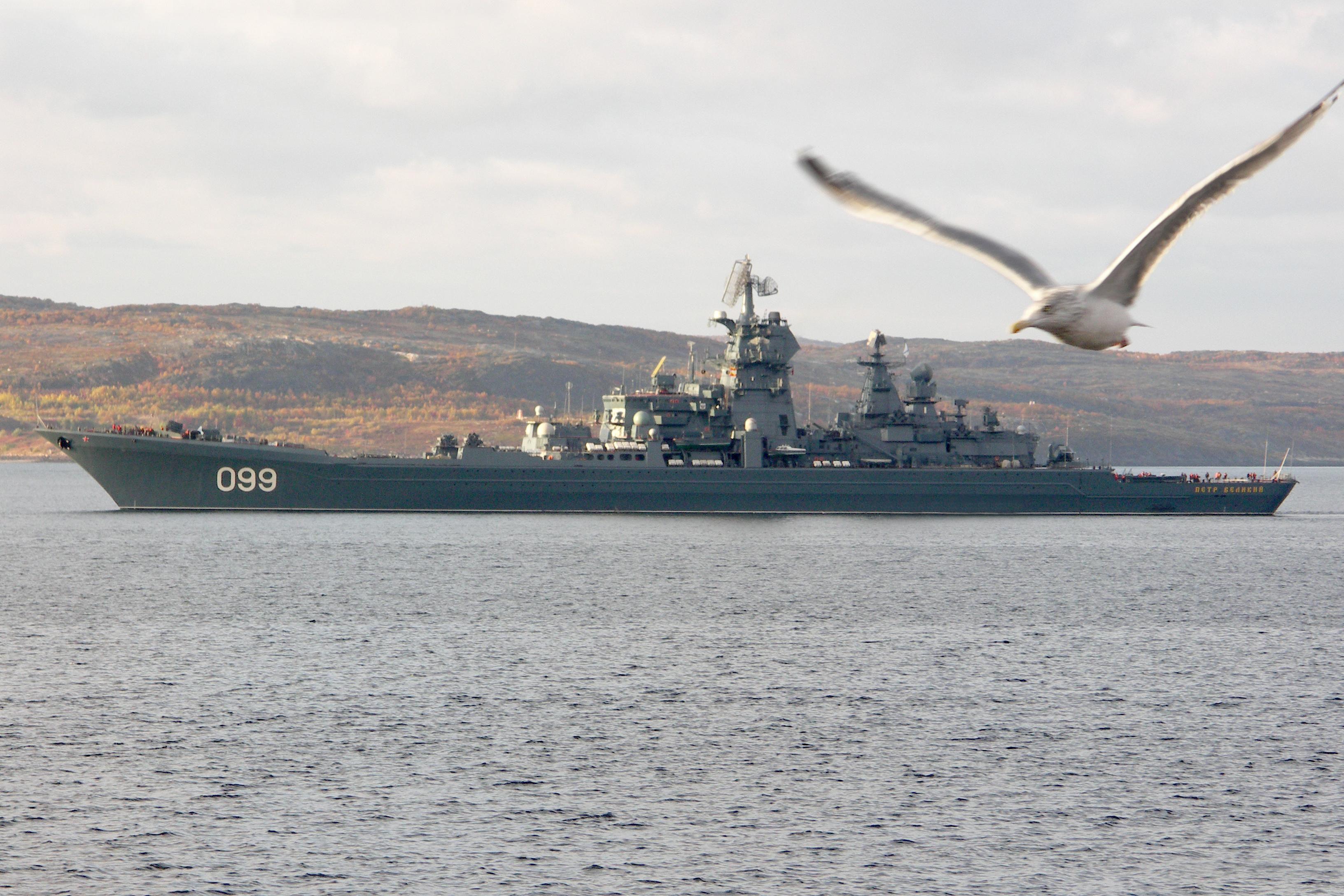 russian kirov class battlecruiser pyotr velikiy