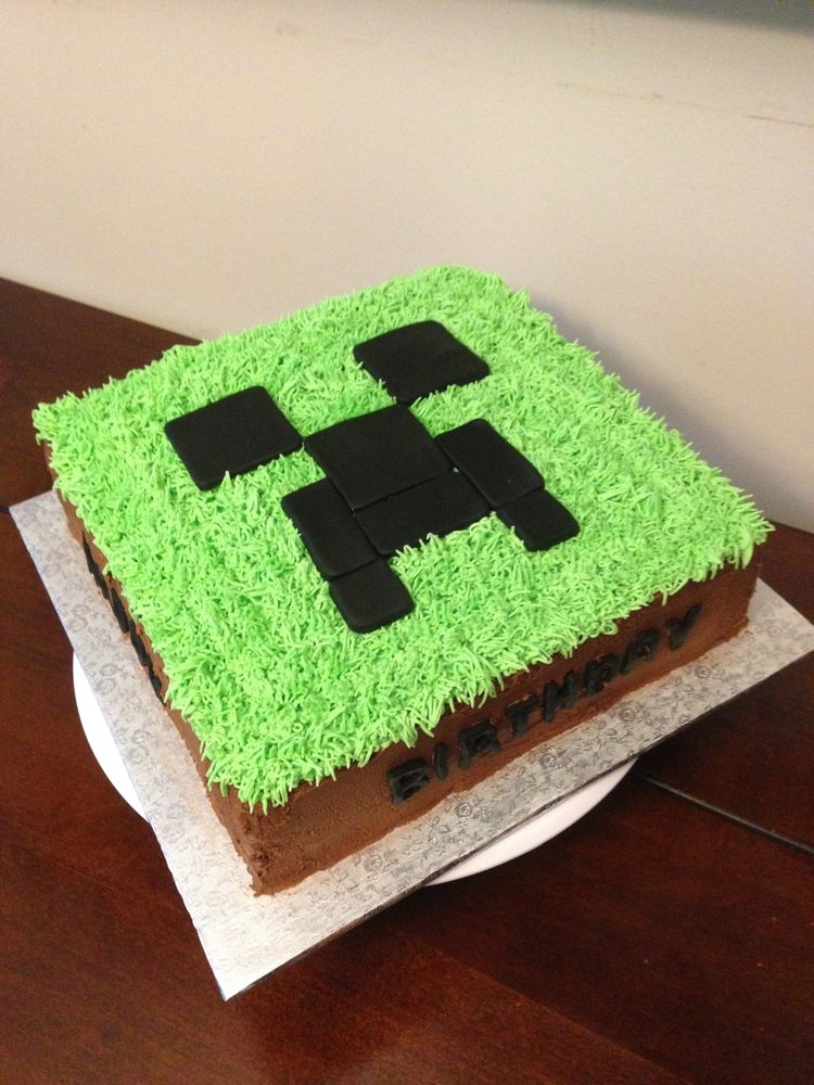 Minecraft Creeper Cake Kids Party Ideas Food In 2019