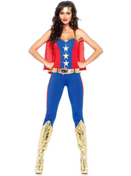 sexy comic book hero womens costume - Heroes Halloween Costumes