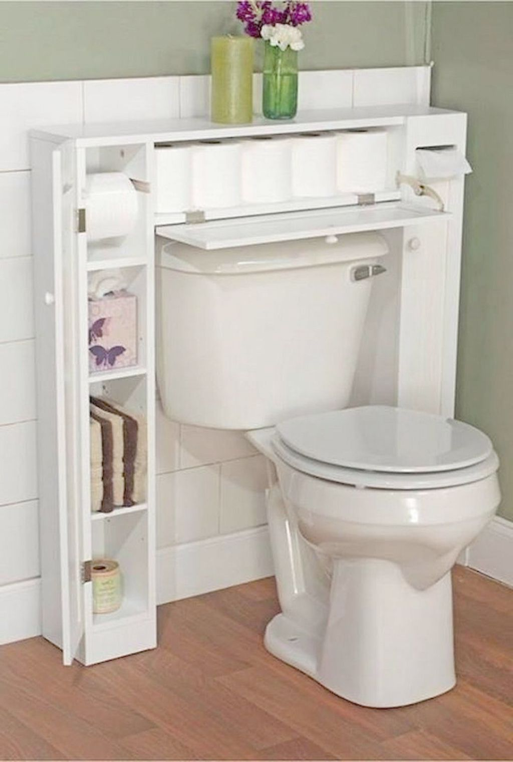Gramercy Bathroom Toilet Paper Holder Storage Organizer Avec
