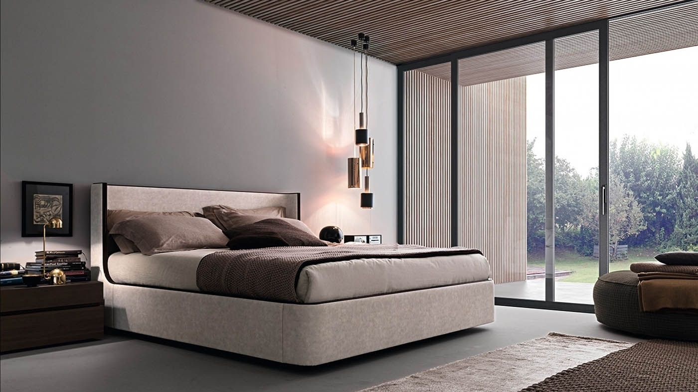 Descrizione 1950\'s è un letto dalle forme sinuose e leggere ...