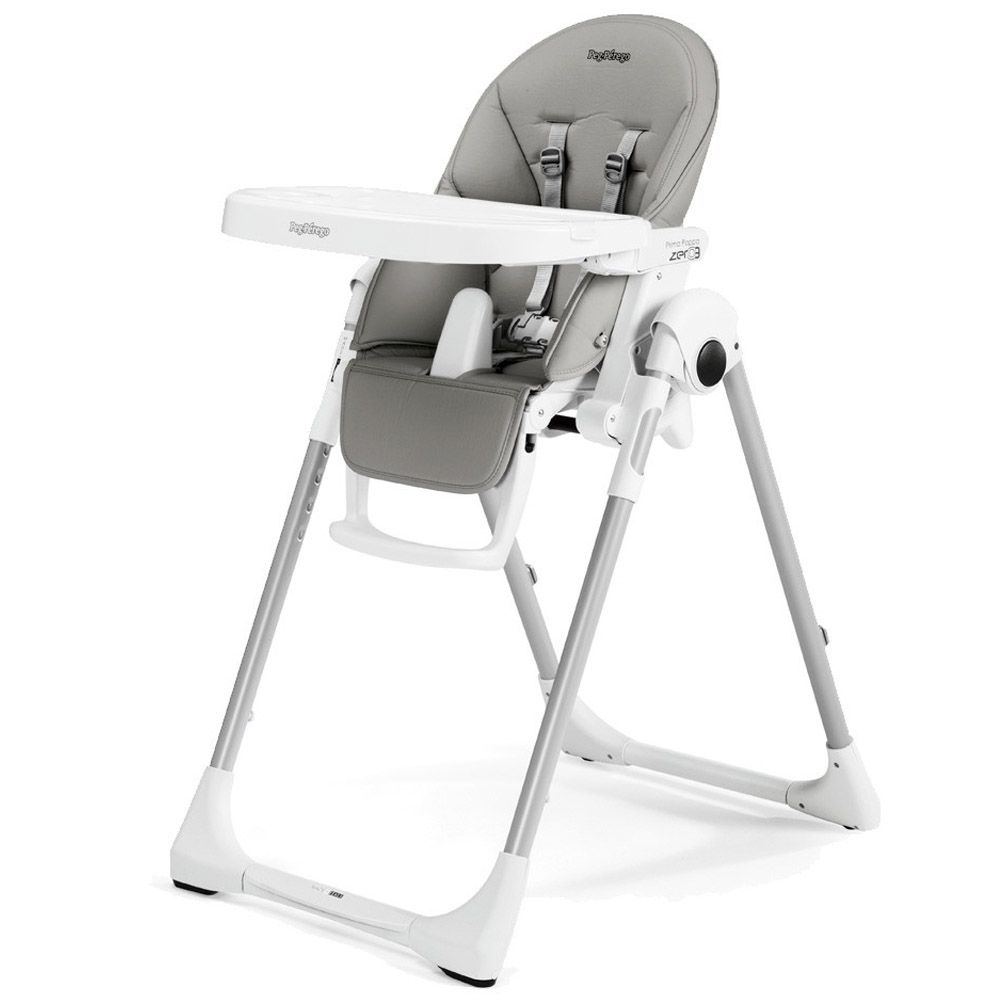 Prima Pappa Zero 3 Eco Leather Ice In 2020 Best High Chairs Baby High Chair Peg Perego