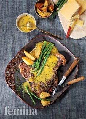Rib Steak Amp Asparagus Femina Resep Asparagus T Bone Steak