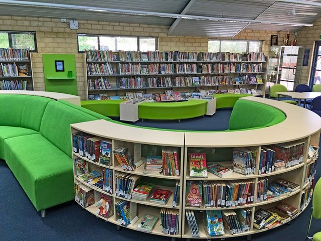 Library Furniture Couches Shelving And Tables