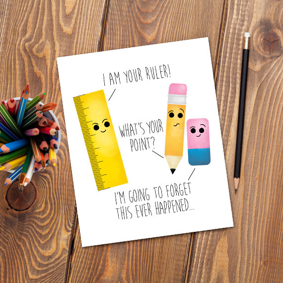 I Am Your Ruler Digital 8x10 Printable Poster Pencil What