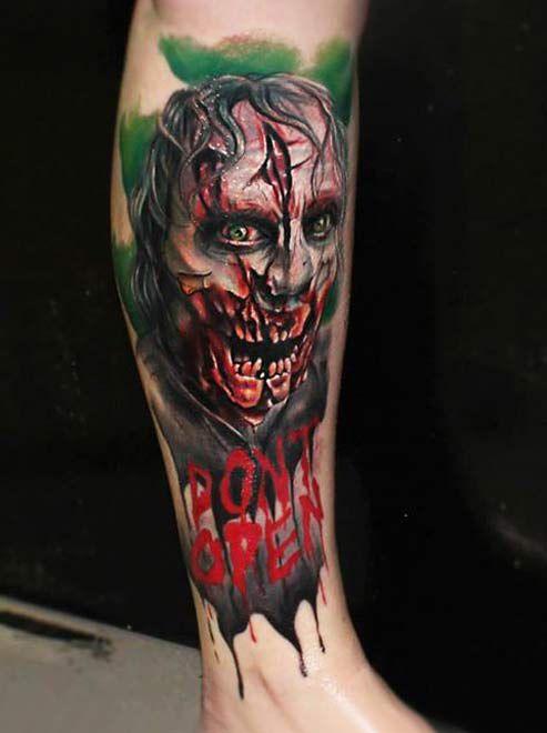 4cc635f750992 Horror tattoo by Charles Huurman | 3 colors tattoo | Tattoos, Horror ...