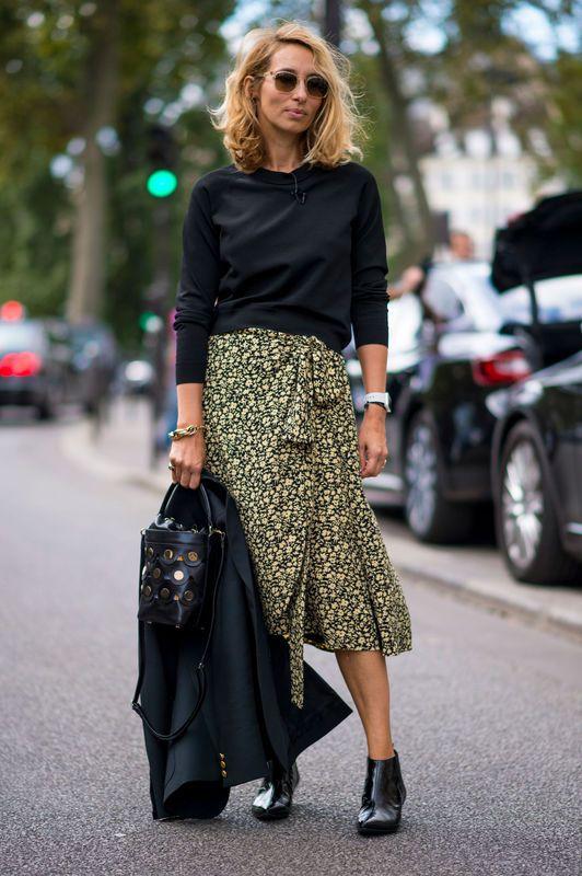 Modne Spodnice Jesien Zima 2016 2017 Street Style Chic Cool Street Fashion Paris Fashion Week Street Style