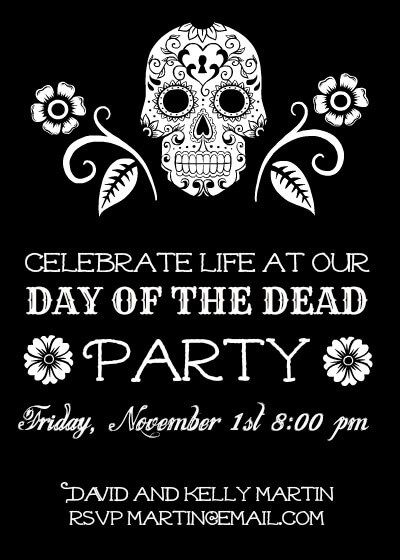 Halloween Photo Effects Design Projects Halloween Photos - Day of the dead party invitation template