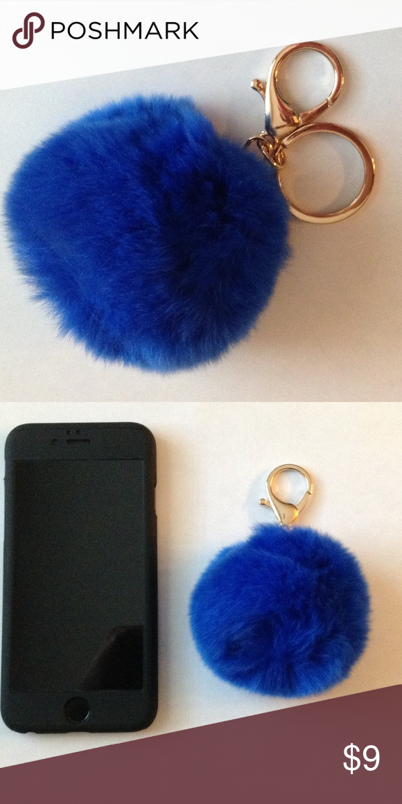 New Cute Fluffy Pom Pom Key Chain This listing is for 1 Fluffy Trendy Key Chain. This is a high quality Pom Pom, not cheap quality like most of the Pom Pom Key Chains sold here.  It will come in a plastic bag so that it does not get dirty. You can shake it or use a blow dryer to fluff it up!  The Phone next to the Pom Pom is an iPhone 6s Price Is Firm - Please do not offer me less than I have it listed, I will not reply. Accessories Key & Card Holders