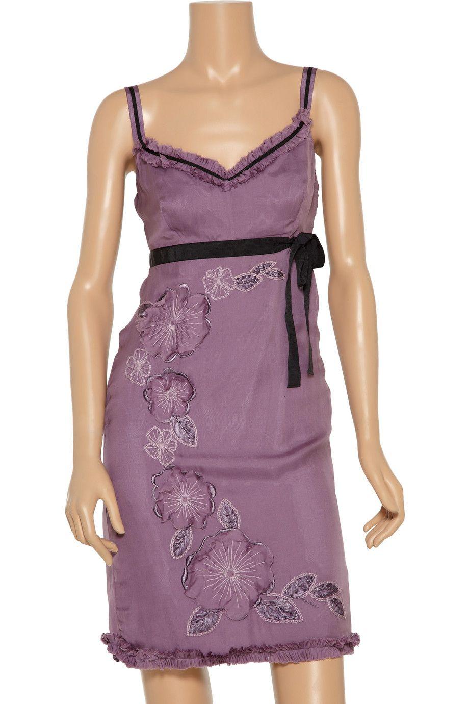 huge discount 29ea3 72c27 Philosophy di Alberta Ferretti Embellished silk dress 84 ...