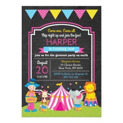 Circus Birthday Invitation - birthday cards invitations party diy - best of birthday invitation card write up