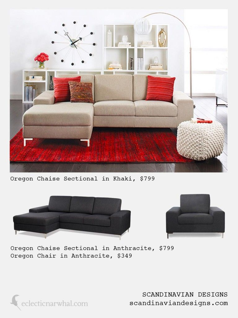 Oregon Chaise Sectional And Chair From Scandinavian Designs