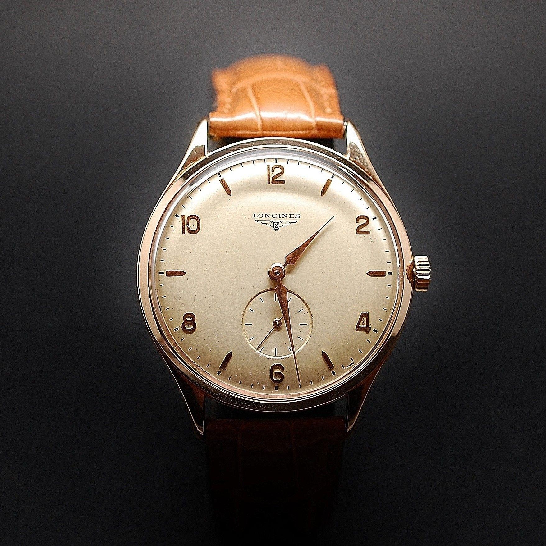 8021e3d1de à vendre : 1500€ Montre Longines Vintage Homme en Or rose 18k Mécanique  Vers 1950