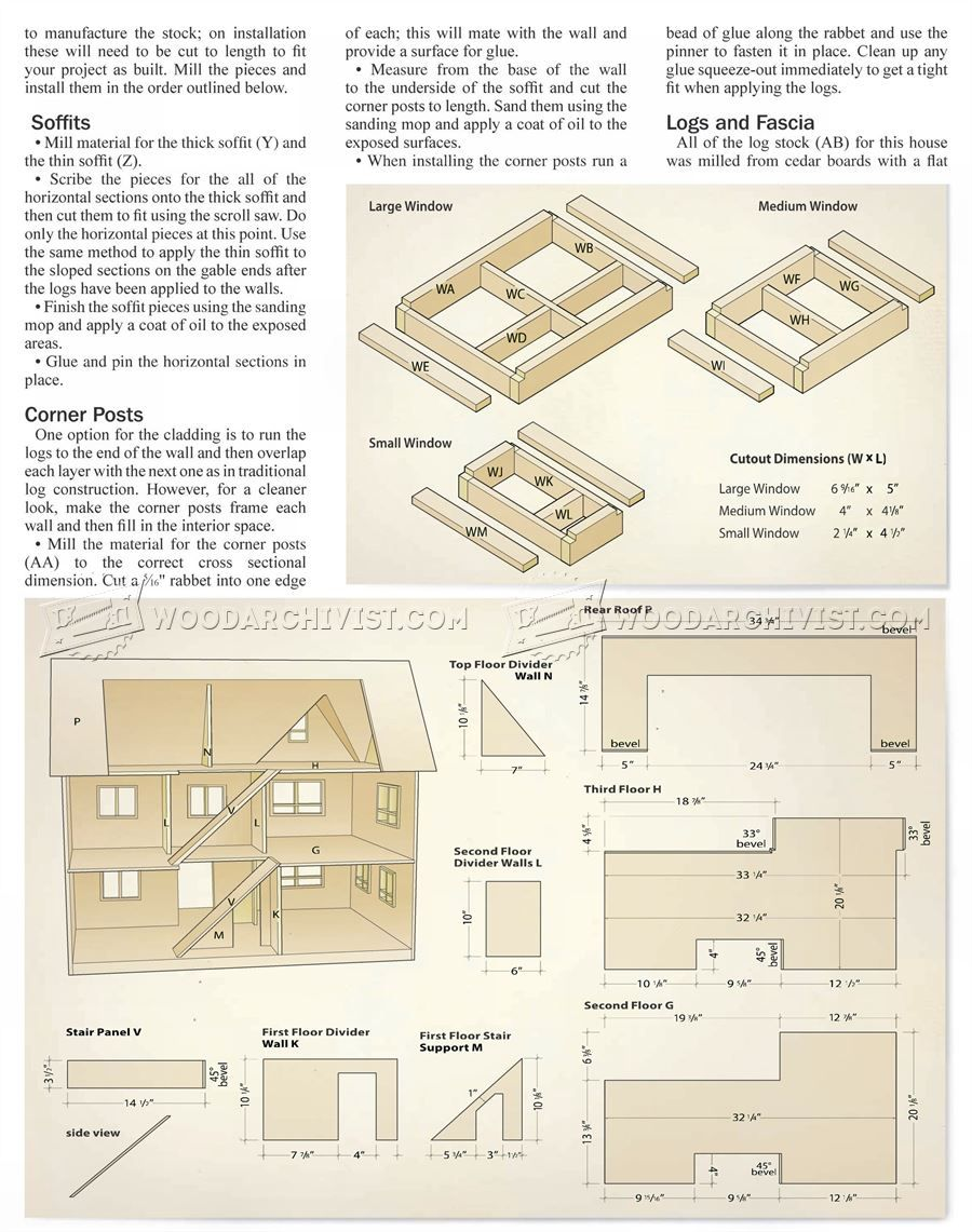 doll house plans - wooden toy plans | doll house | doll