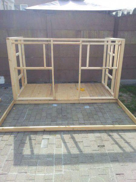como hacer una casita de madera con palets muebles para
