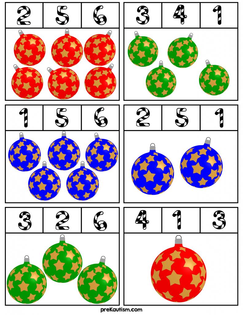 Winter Number Clip Cards Christmas Kindergarten Preschool Christmas Christmas Worksheets [ 1024 x 791 Pixel ]
