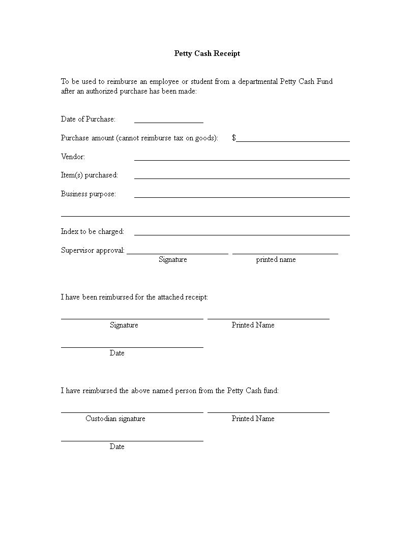 Petty Cash Receipt How To Create A Petty Cash Receipt Download This Petty Cash Receipt Template Now Receipt Template Templates Business Template